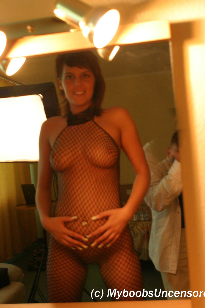 Various females take turns showing the exposed breasts and more