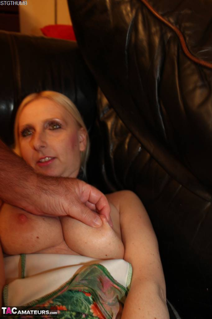 Blonde First Timer Tracey Lain Drips Jizz From Chin After Deep