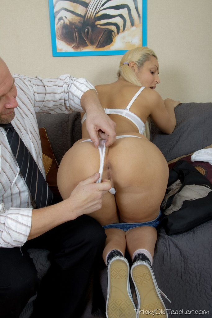 Young blonde girl Betsy gets tricked into intercourse with her old teacher