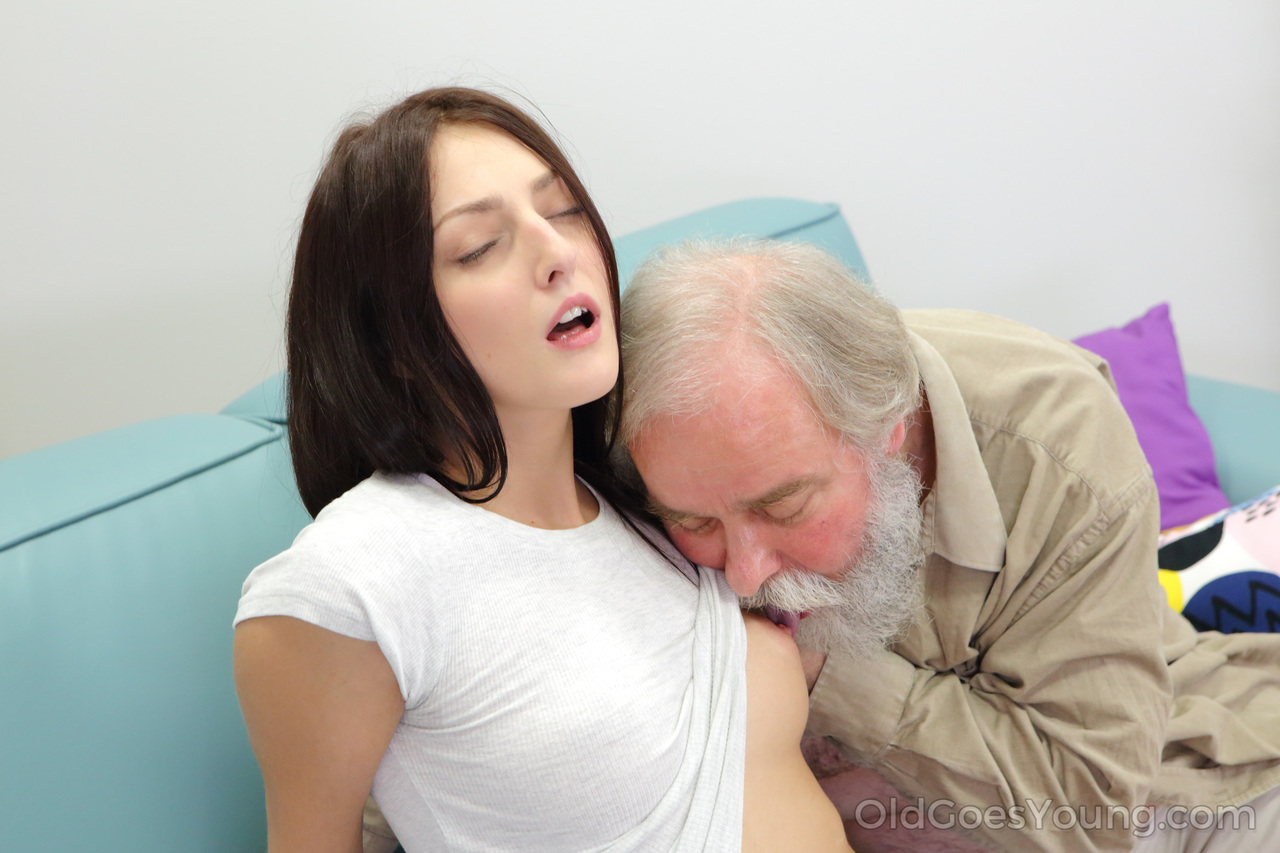Old Man Abuses Young Girl
