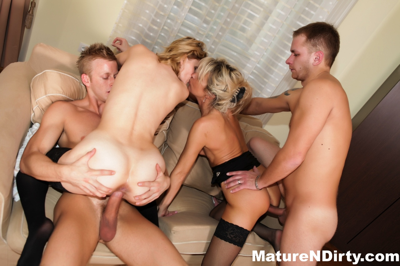 Anal Sex And A Double Penetration During A Group Sex Of Black