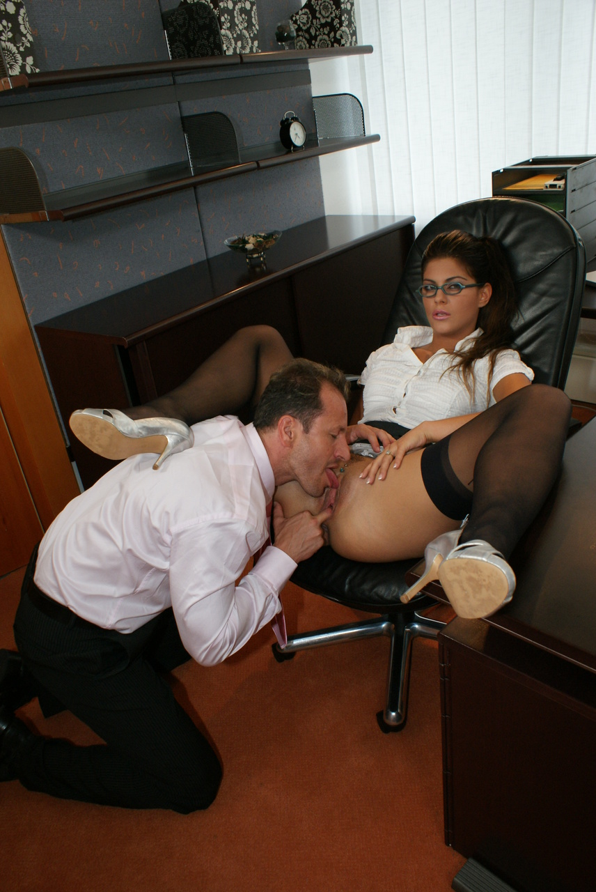Carla in the office