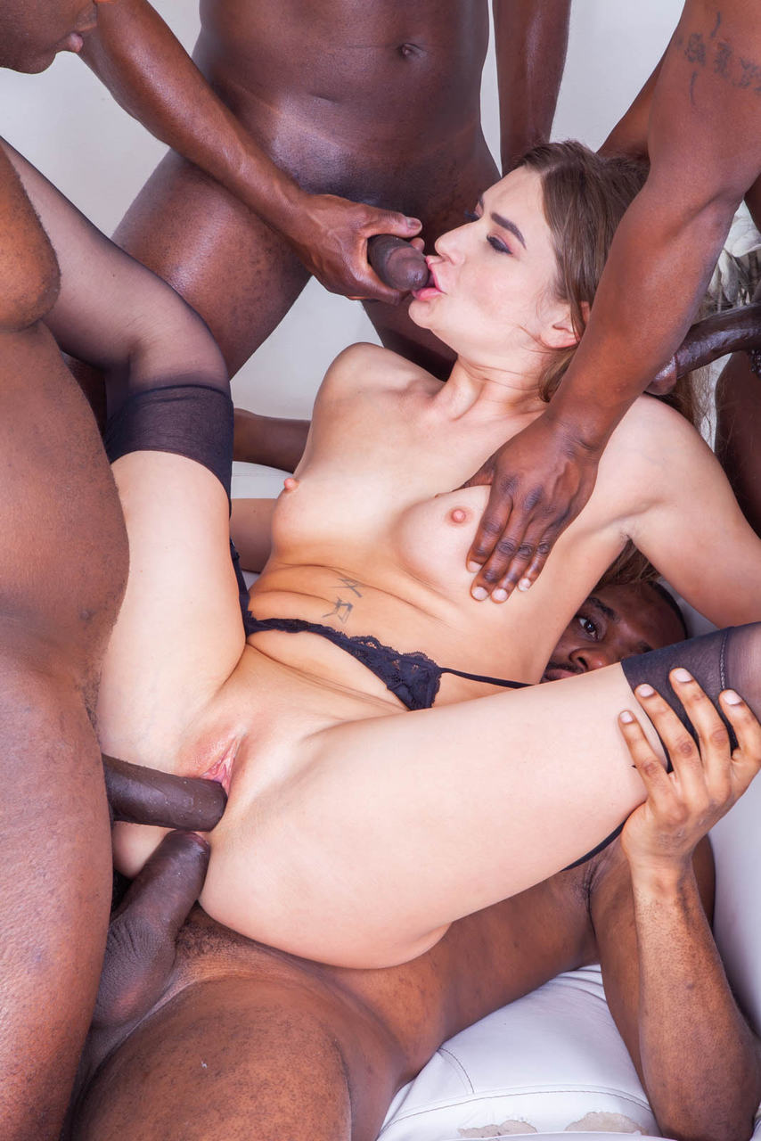 Allie haze gangbanged by 4 guys