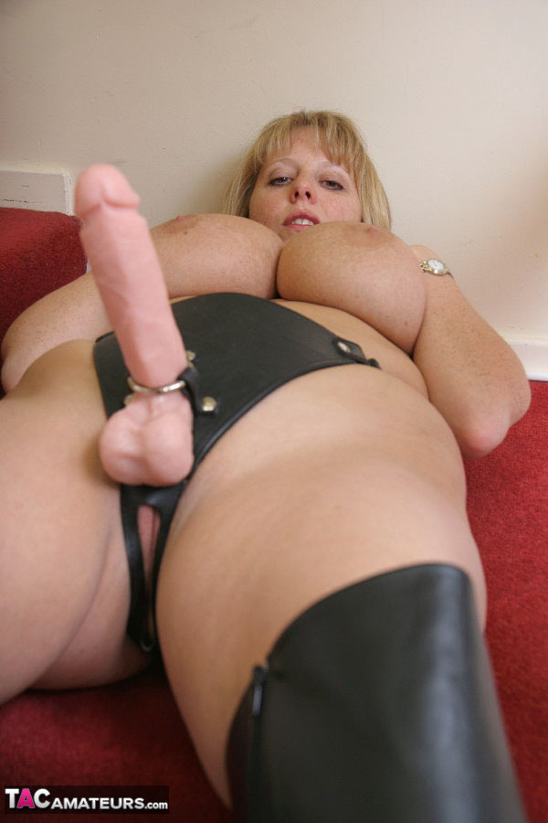 Chubby Lesbian Couple Fucks With A Strapon