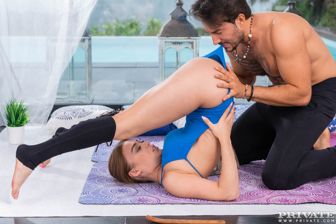Tattooed fitness enthusiast Misha Maver goes PTM with her workout partner