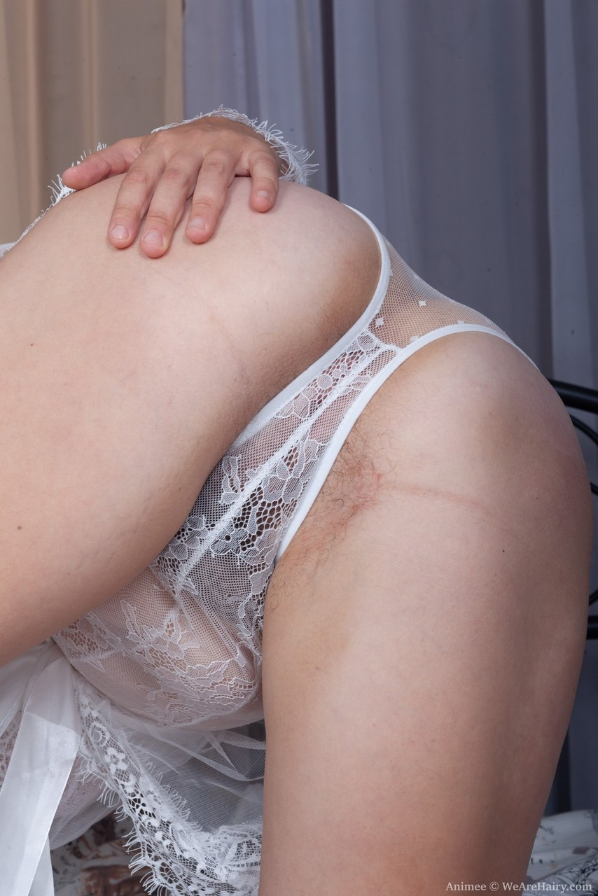 Chubby amateur Animee sets her big naturals loose before toying her beaver